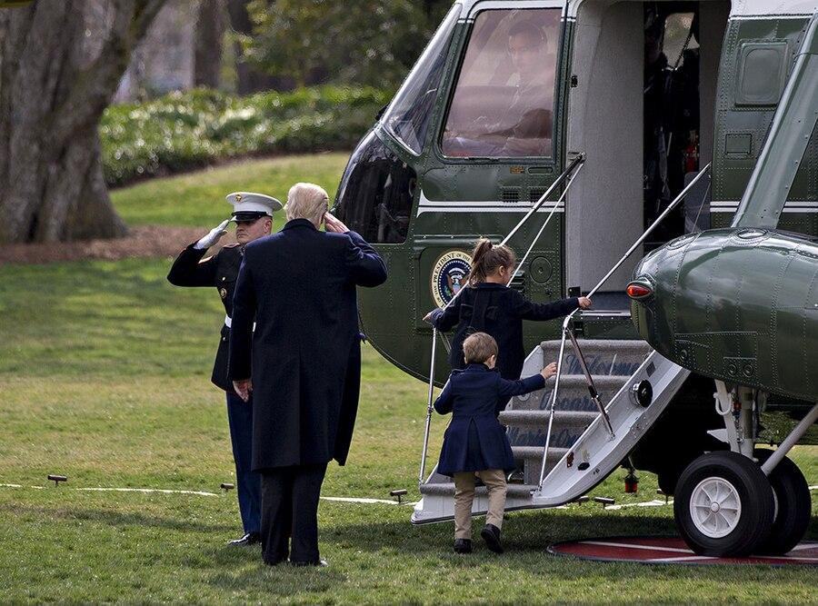 Donald Trump, Arabella Kushner, Joseph Kushner, Marine One