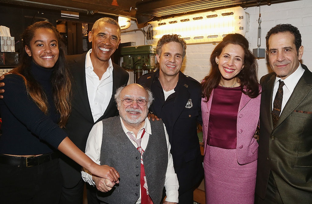 Malia Obama, Barack Obama, Danny DeVito, Mark Ruffalo, Tony Shalhoub, Jessica Hecht, Broadway, New York