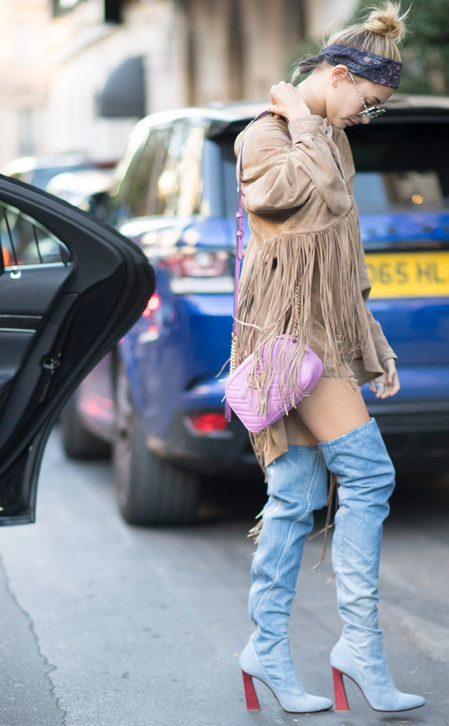 Fun With Fringe From Hailey Baldwin 39 S Street Style E News