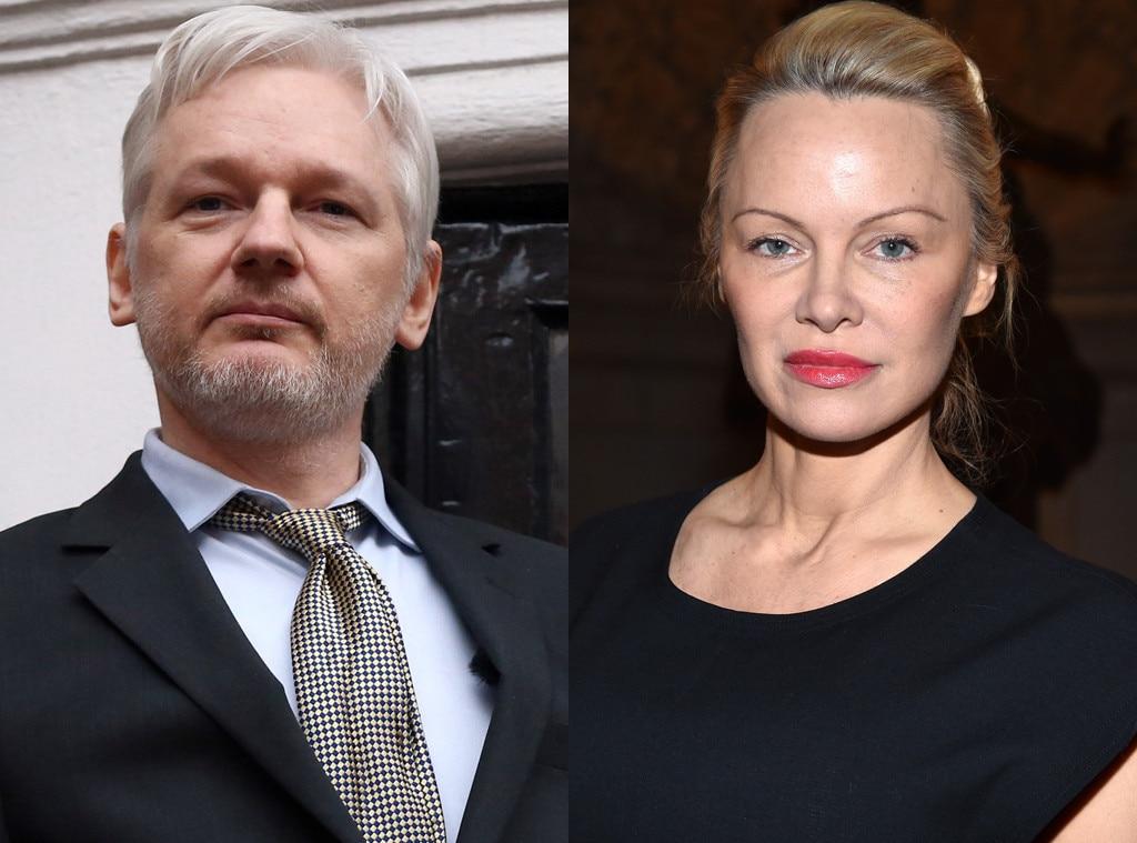 Pamela Anderson, Julian Assange