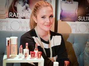 Drew Barrymore, Flower, Celebs with Green Brands