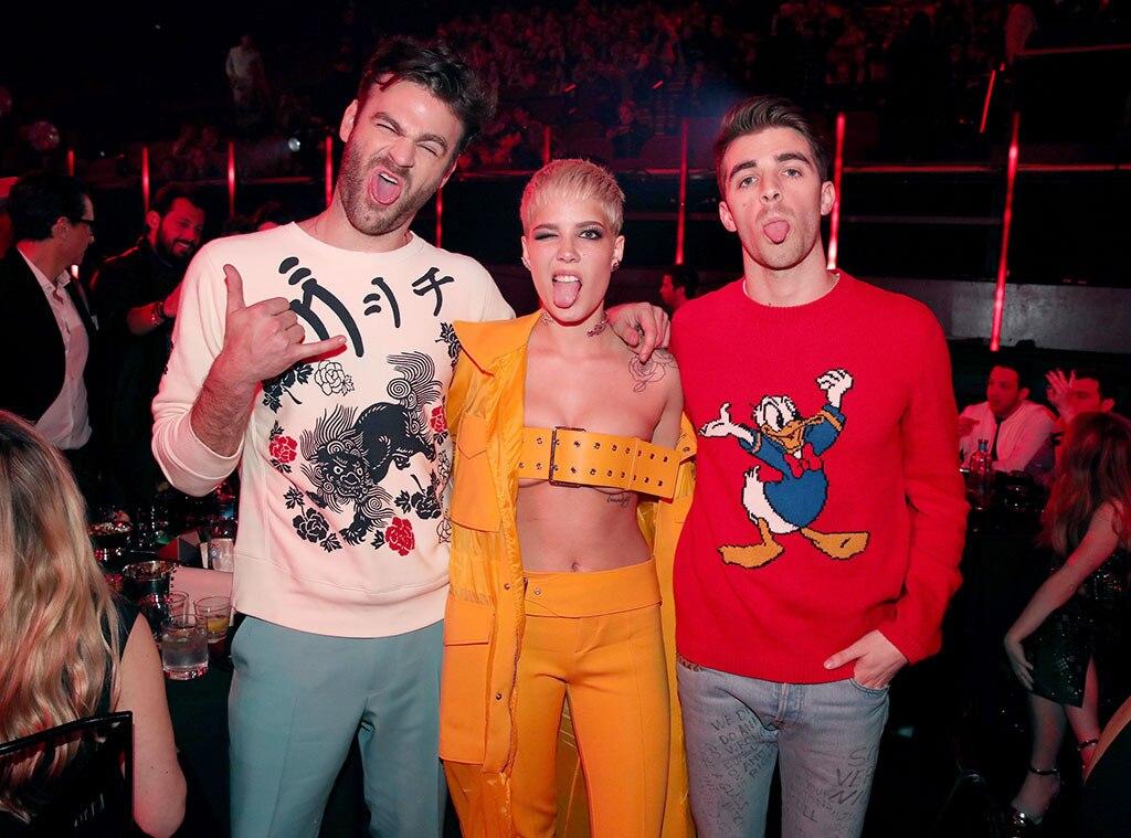The Chainsmokers, Halsey, 2017 iHeartRadio Music Awards, Candids