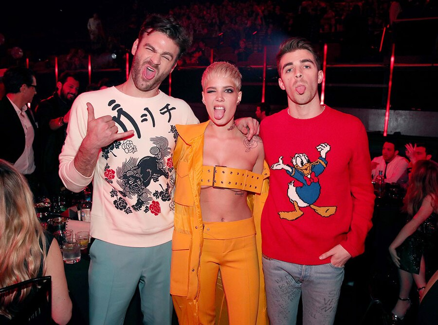 The Chainsmokers, Halsey, 2017 iHeartRadio Music Awards, Candids