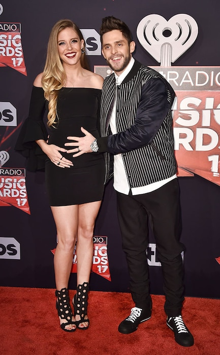 Lauren Gregory, Thomas Rhett, 2017 iHeartRadio Music Awards, Arrivals