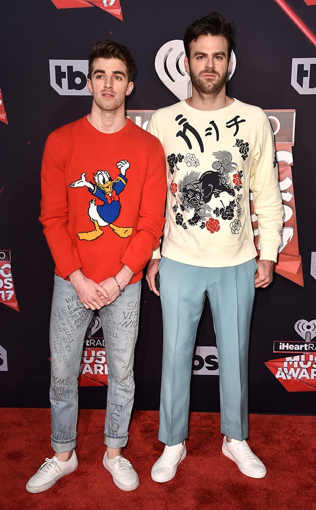 Andrew Taggart, Alex Pall, The Chainsmokers, 2017 iHeartRadio Music Awards, Arrivals