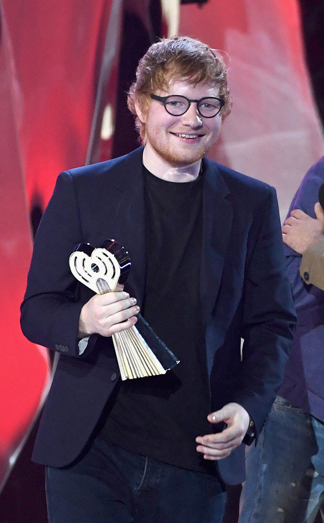Ed Sheeran, 2017 iHeartRadio Music Awards, Winners