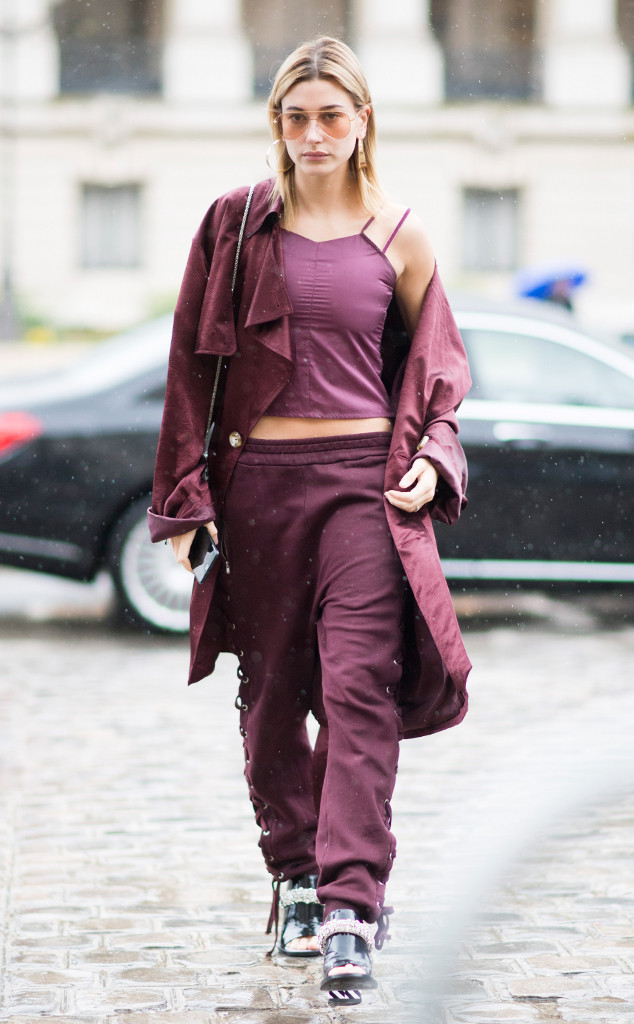ESC: Paris Fashion Week, Street Style, Hailey Baldwin