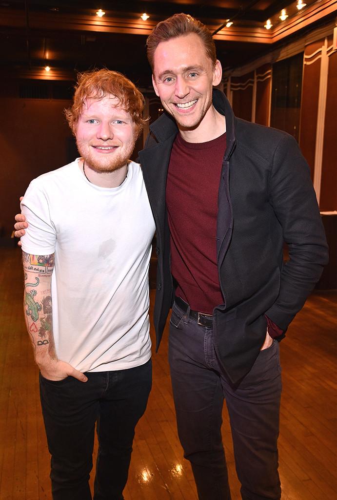 Tom Hiddleston, Ed Sheeran