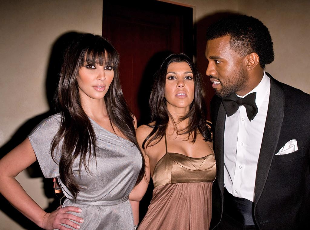 Kim Kardashian, Kourtney Kardashian, Kanye West, 2008