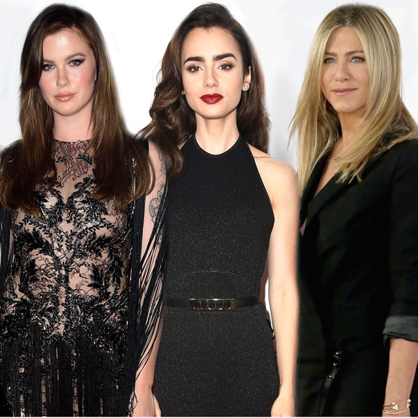 Jennifer Aniston, Lily Collins, Ireland Baldwin, Angelina Jolie