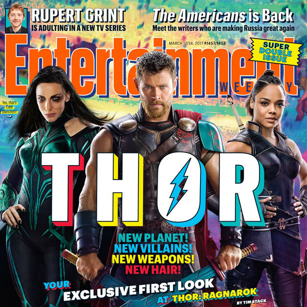 Thor Ragnarok, Chris Hemsworth, Cate Blanchett, Tessa Thompson, Entertainment Weekly