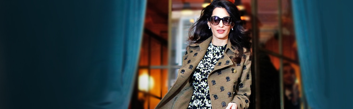Amal Clooney, Pregnancy Style, Landing Page