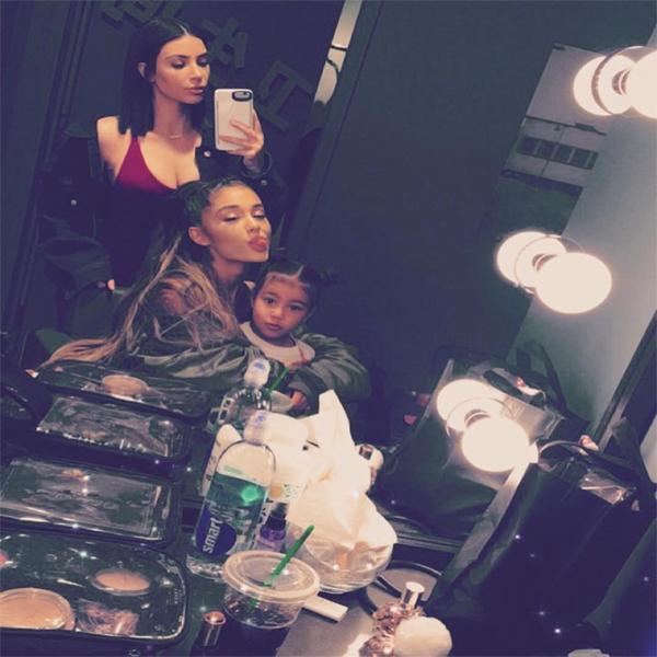 Kim Kardashian, North West, Ariana Grande