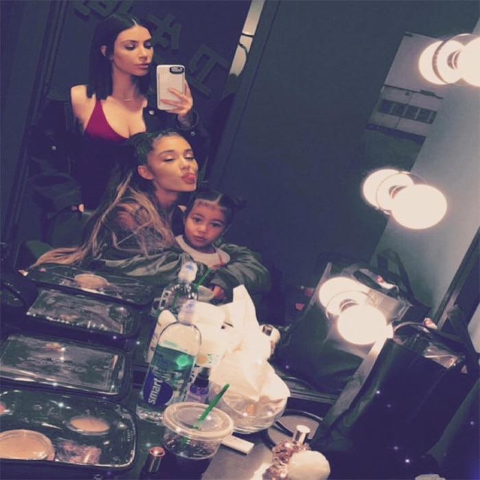 Kim Kardashian, North West, Ariana Grande