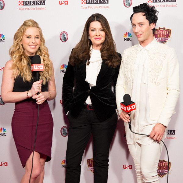 Lisa Vanderpump, Tara Lipinski, Johnny Weir