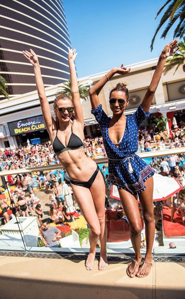 Josephine Skriver, Jasmine Tookes, Encore Beach Club, Las Vegas