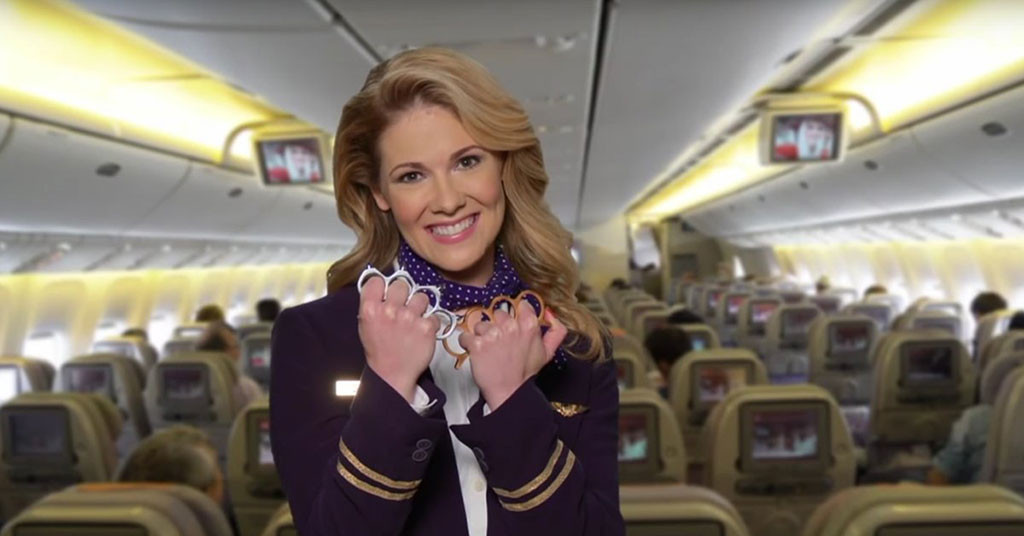 Jimmy Kimmel Live, United Airlines Spoof
