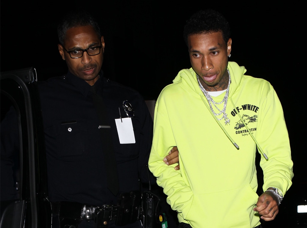 Tyga handcuffed and taken to police station, but avoids DUI