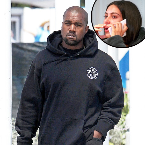 Kim Kardashian West's heart dropped when Kanye West was hospitalised