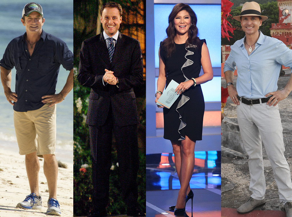 TV Hosts, Jeff Probst, Chris Harrison, Julie Chen, Phil Keoghan