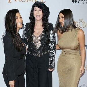 Kourtney Kardashian, Cher, Kim Kardashian