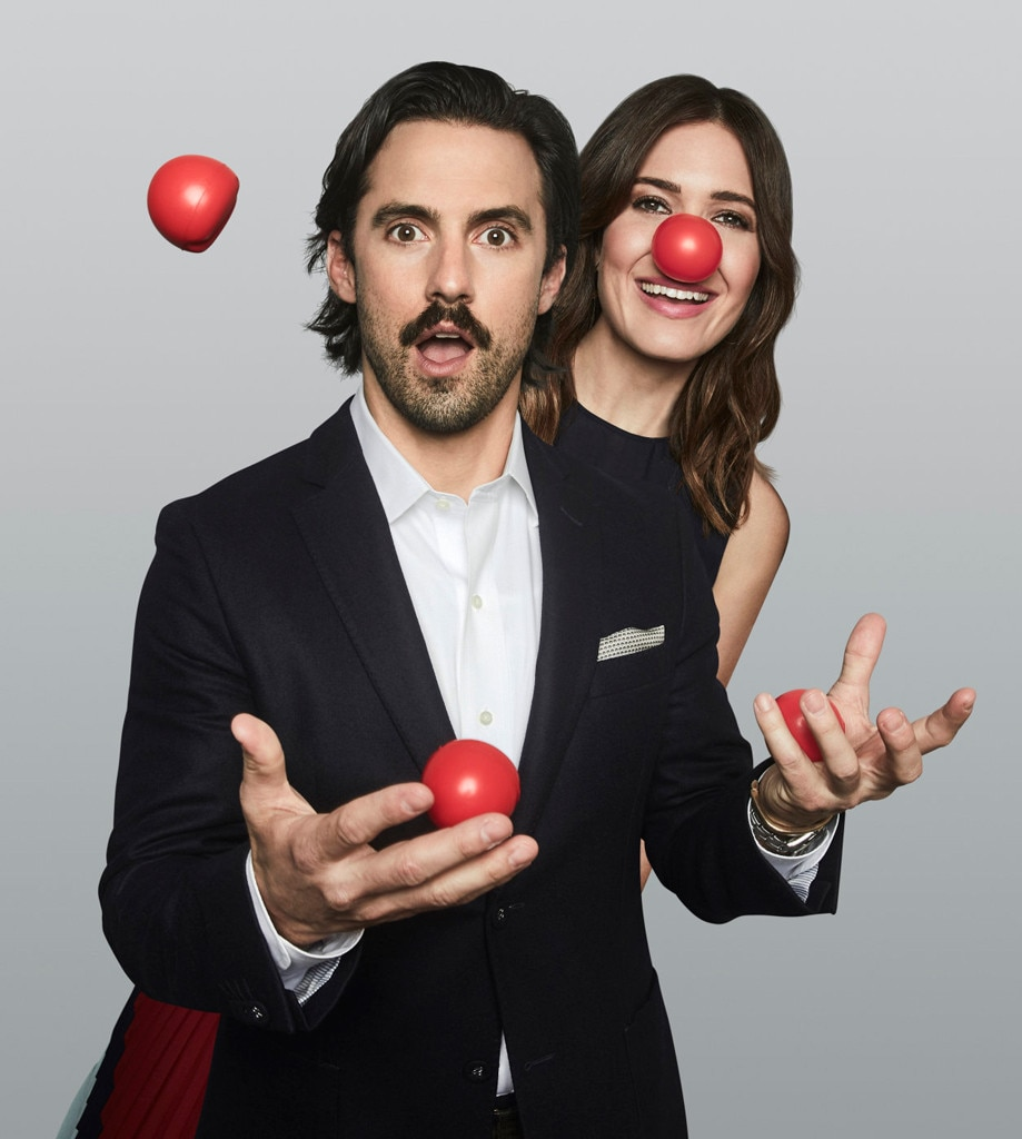 Milo Ventimiglia, Mandy Moore, Red Nose Day