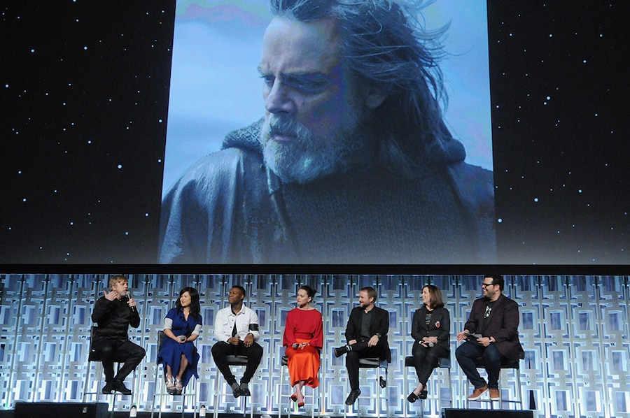 Mark Hamill, Kelly Marie Tran, John Boyega, Daisy Ridley, Rian Johnson, Kathleen Kennedy, Josh Gad, Star Wars Celebration