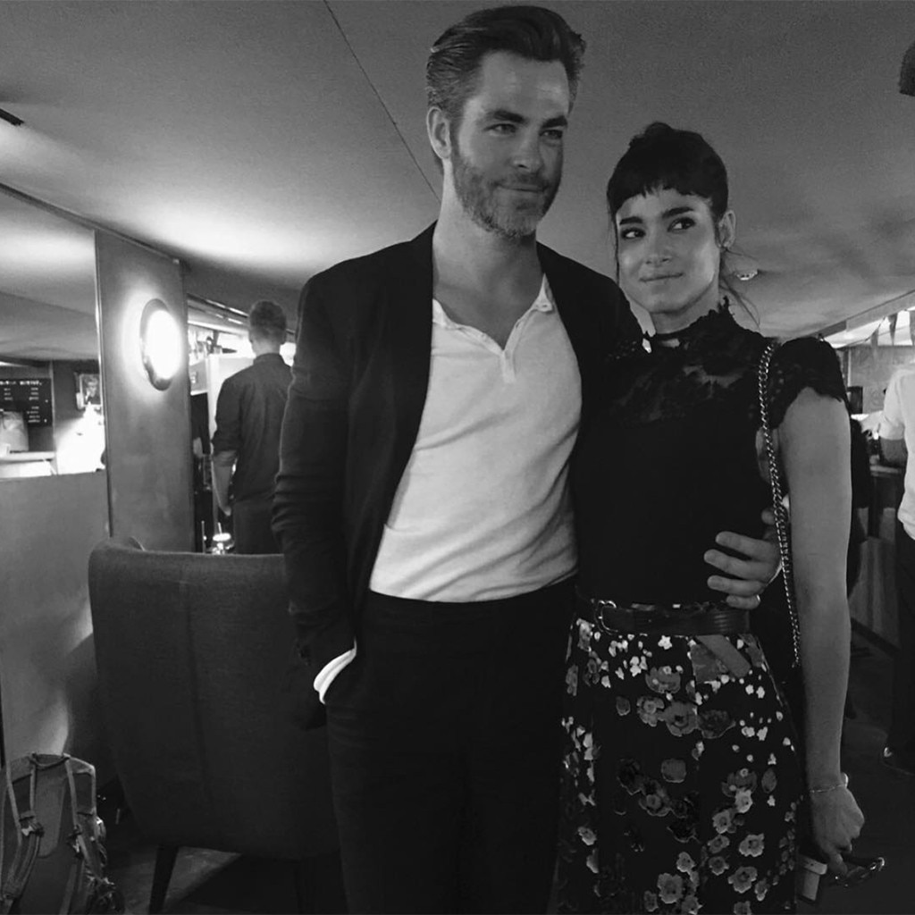 Sofia Boutella, Chris Pine, Instagram