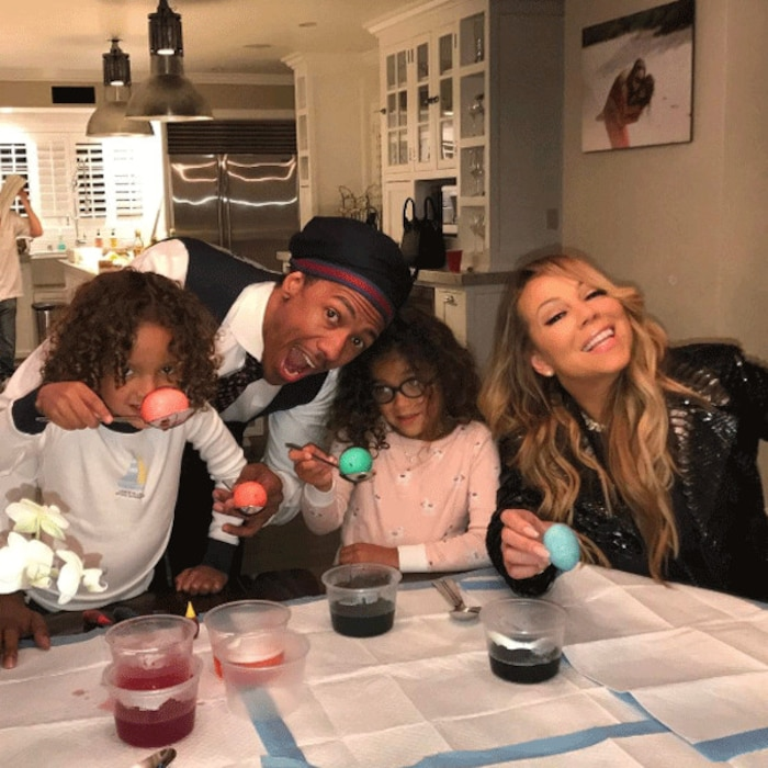 Mariah Carey, Nick Cannon, Easter 2017