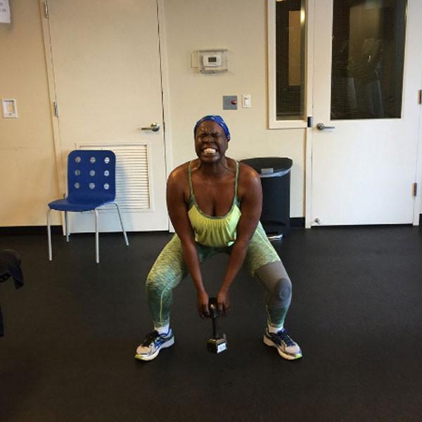 Leslie Jones, Workout, Instagram