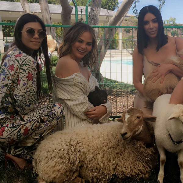 Kim Kardashian, Chrissy Teigen, Kourtney Kardashian, Easter