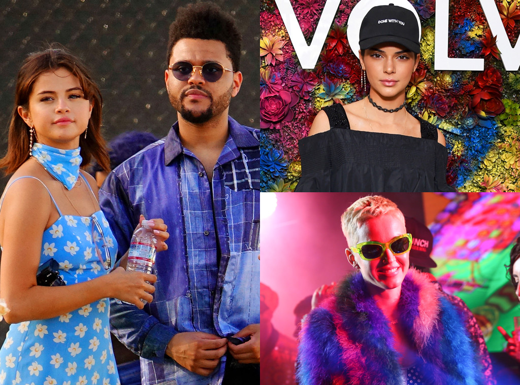 Selena Gomez, The Weeknd, Kendall Jenner, Katy Perry, Coachella 2017