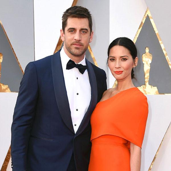 2016 Oscars, Academy Awards, Arrivals, Aaron Rodgers, Olivia Munn, Couples