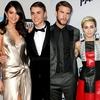 Selena Gomez, Justin Bieber, Miley Cyrus, Liam Hemsworth
