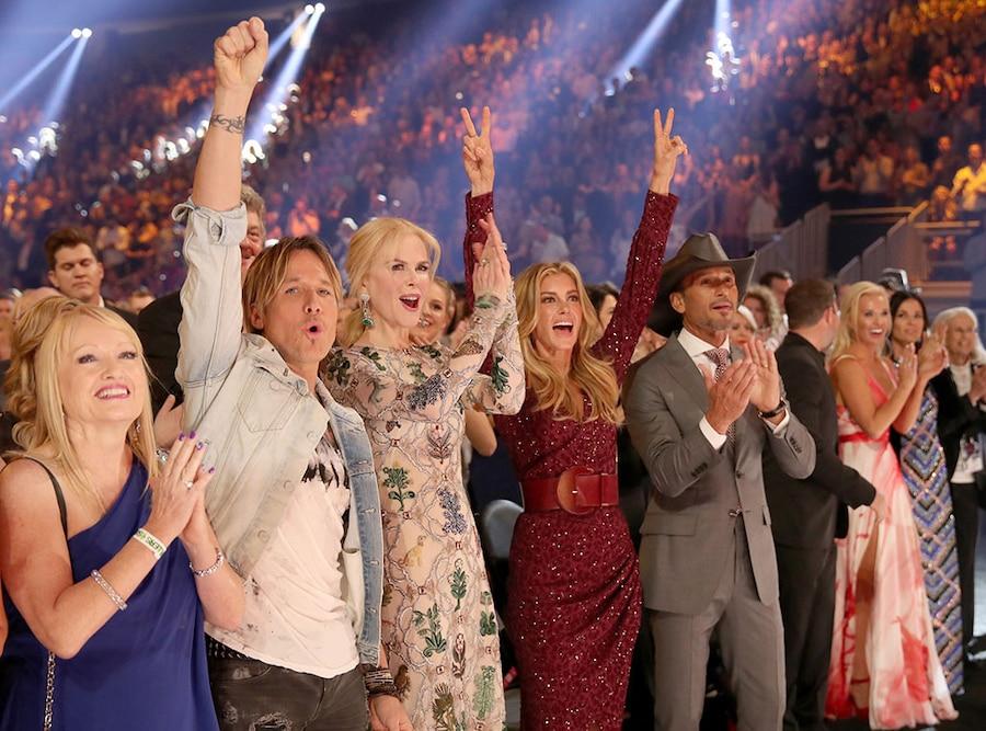 Keith Urban, Nicole Kidman, Faith Hill, Tim McGraw, 2017 Academy of Country Music Awards, Candids