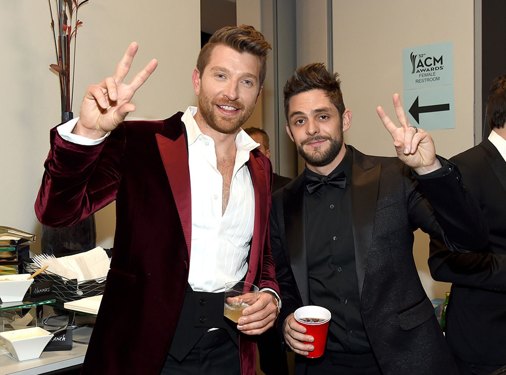 Brett Eldredge, Thomas Rhett, 2017 Academy of Country Music Awards, Candids