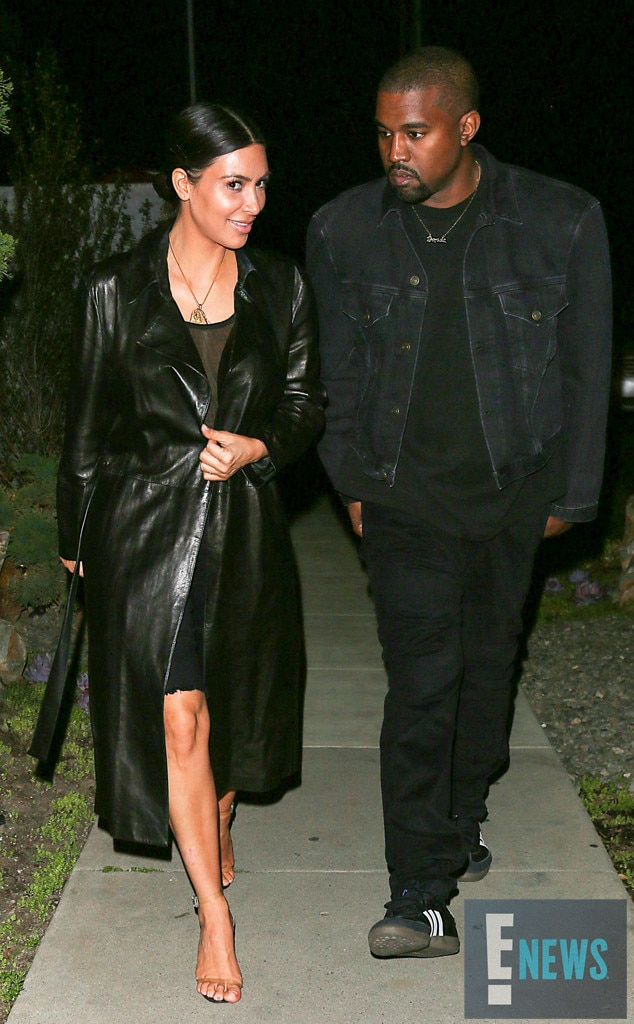 Kim Kardashian Is All Smiles On Date Night With Kanye West After Baby Bombshell