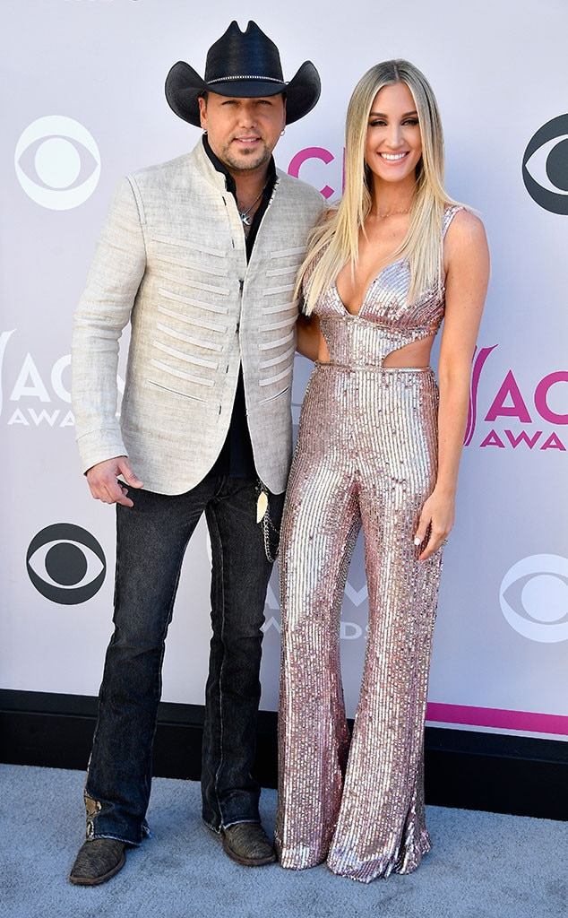 Jason Aldean Amp Brittany Kerr From Acm Awards 2017 Red