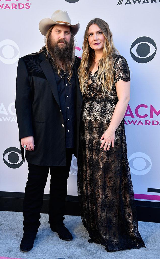 Chris & Morgane Stapleton From ACM Awards 2017: Red Carpet