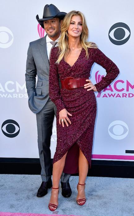 Tim McGraw, Faith Hill, 2017 ACM Awards, Arrivals