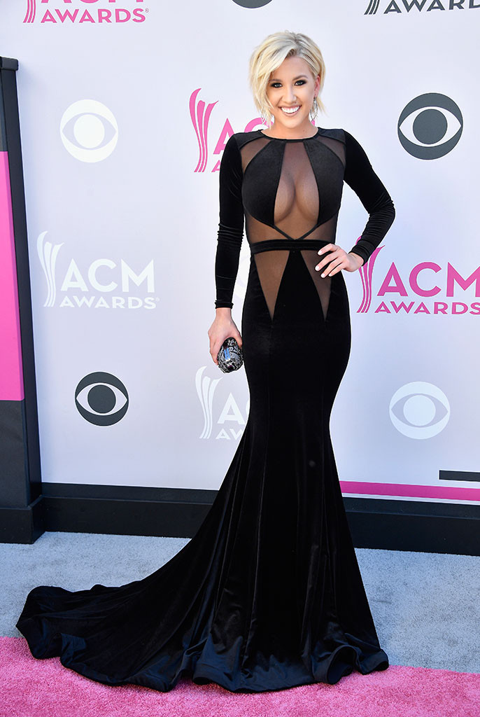 Savannah Chrisley, 2017 ACM Awards, Arrivals