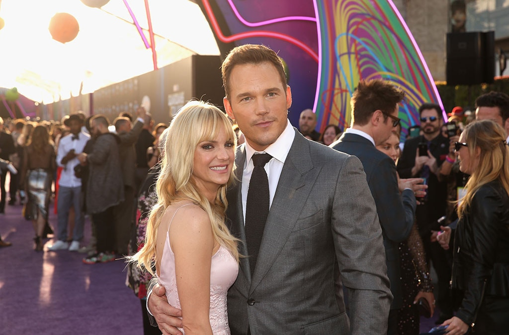 Anna Faris, Chris Pratt, Guardians of the Galaxy Vol. 2 Premiere