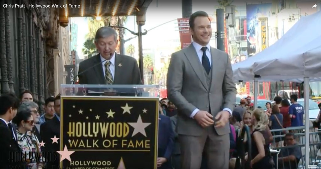 Chris Pratt, Walk of Fame