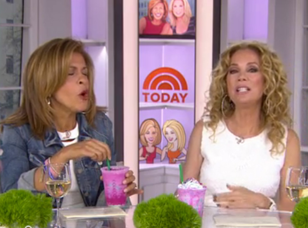 Hoda Kotb, Kathie Lee Gifford, Today Show, Starbucks Unicorn Frappuccino