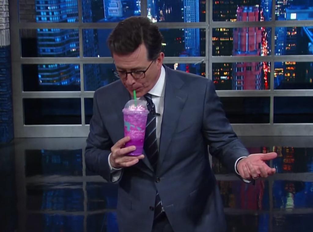 Stephen Colbert, Starbucks Unicorn Frappuccino