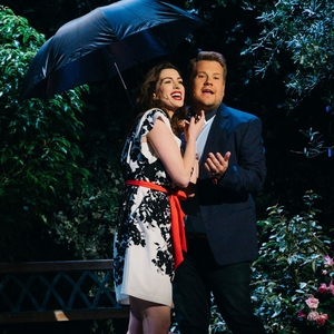 Anne Hathaway, James Corden, The Late Late Show