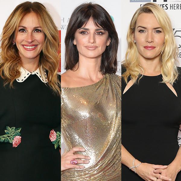 Julia Roberts, Penelope Cruz, Kate Winslet