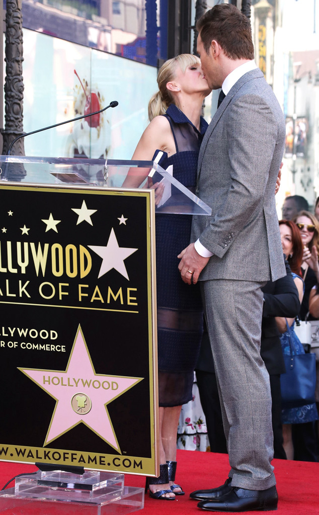 Chris Pratt, Anna Faris, Hollywood Walk of Fame