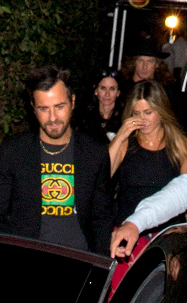 Jennifer Aniston, Justin Theroux, Courteney Cox