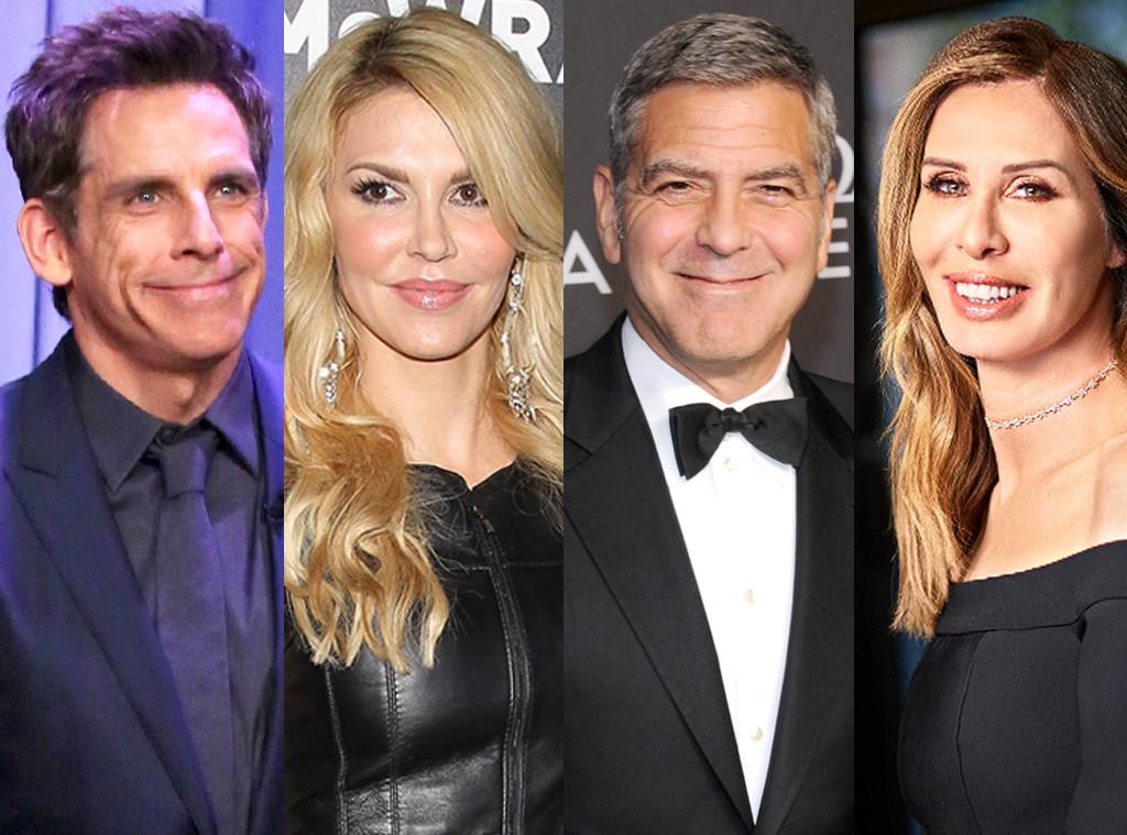 Ben Stiller, Brandi Glanville, George Clooney, Carol Radziwill